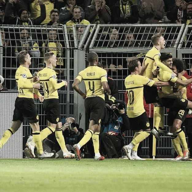 BorussiaDortmundgoleia Atlético de Madrid pela Champions League e assume a liderança do grupo A