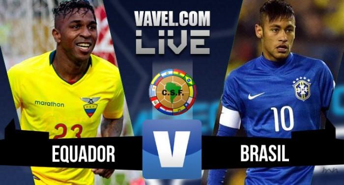 Partita Ecuador - Brasile in qualificazioni Mondiali 2018 (0-3). Il Brasile esce nel finale e prende i tre punti.