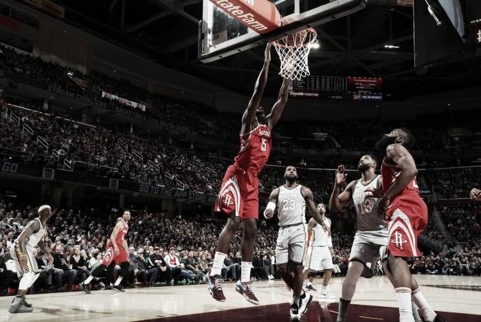 Em noite apagada de LeBron James, Rockets atropela Cavaliers fora de casa