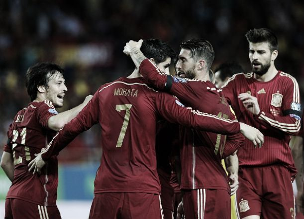 David Silva's Spain have one foot in the 2016 European Championship group stage
