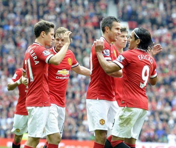Falcao figuró en la victoria del Manchester