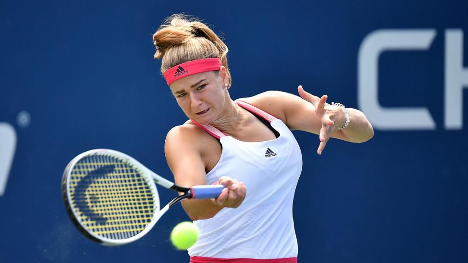 US Open: Karolina Muchova rolls into the third round