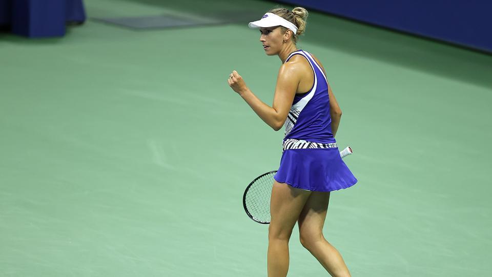 US Open: Elise Mertens blitzes past Sofia Kenin in straight sets