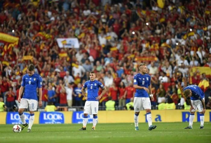 """Qualificazioni Mondiali, che batosta Italia. La rabbia di Ventura: """"Quanti errori abbiamo commesso"""""""