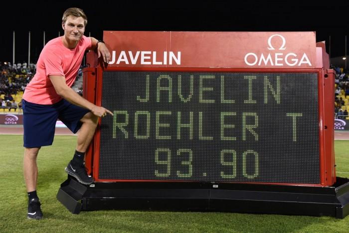 Diamond League - Doha: Rohler pazzesco nel giavellotto, Barshim domina l'alto, Thompson batte Schippers