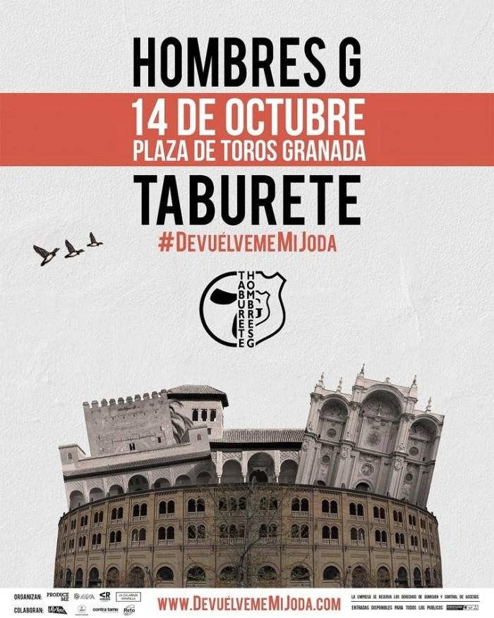 Hombres G y Taburete visitarán Granada el próximo 14 de octubre