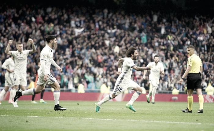 Marcelo decide no fim, Real Madrid bate Valencia e assume liderança da La Liga