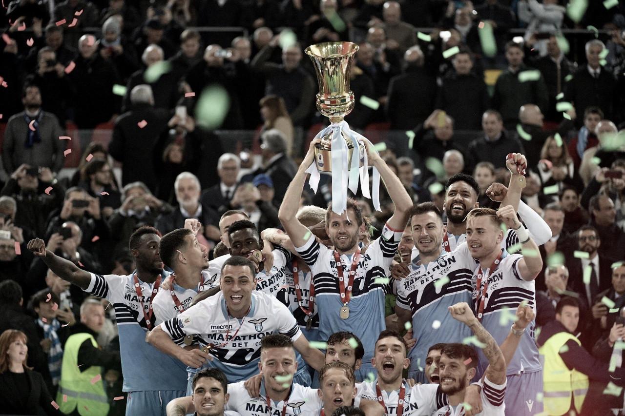 Com gols na reta final, Lazio derrota Atalanta e conquista Copa da Itália