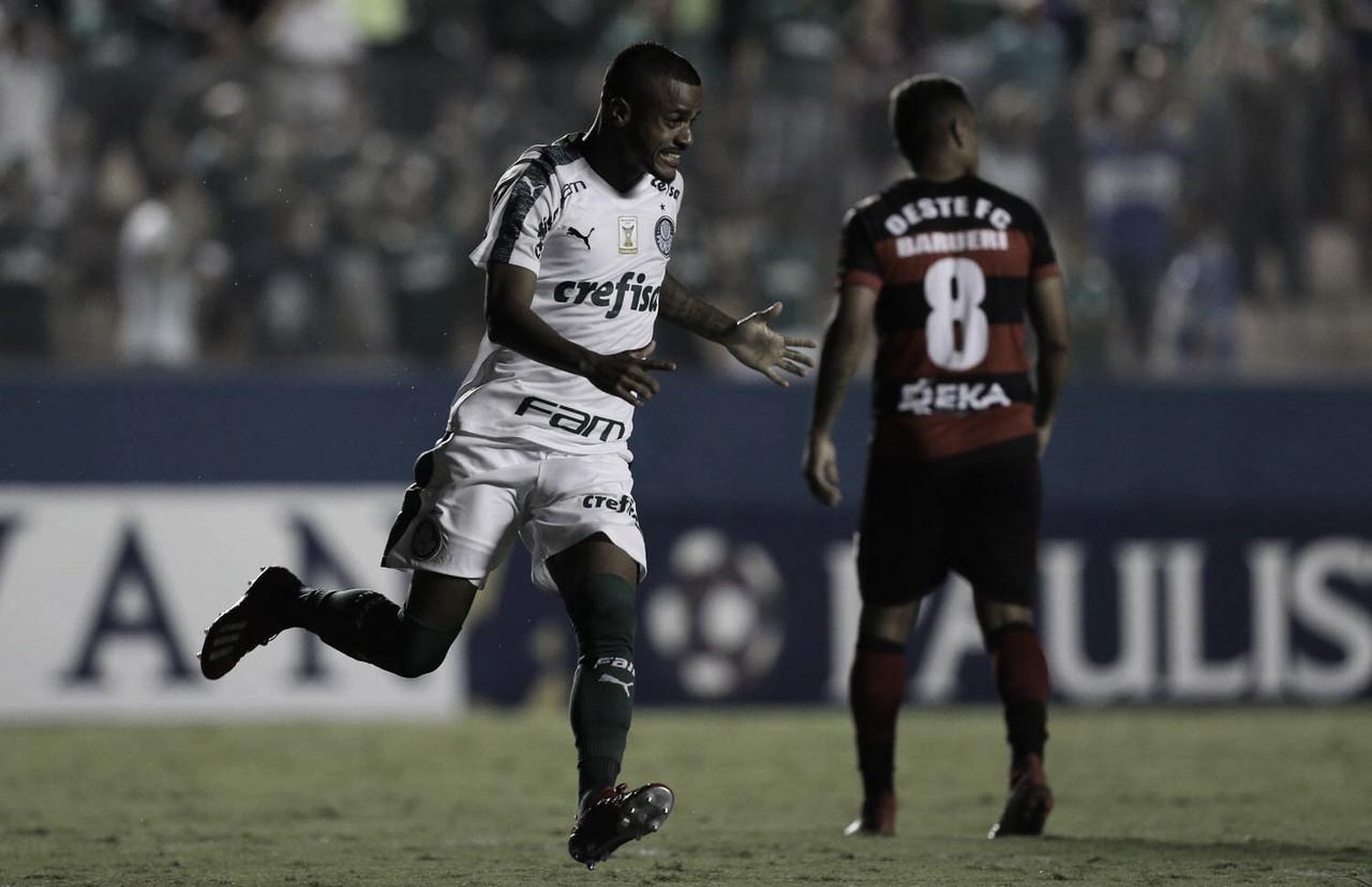 Palmeiras vence Oeste e engata terceira vitória seguida no Paulistão