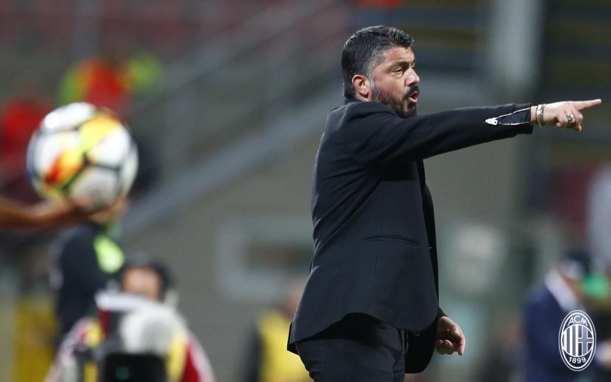 """Gattuso: """"Con il Sassuolo abbiamo perso una grande occasione"""""""