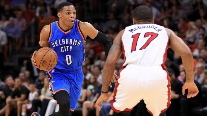 NBA - Westbrook trascina OKC. Miami cade al cospetto dei Thunder