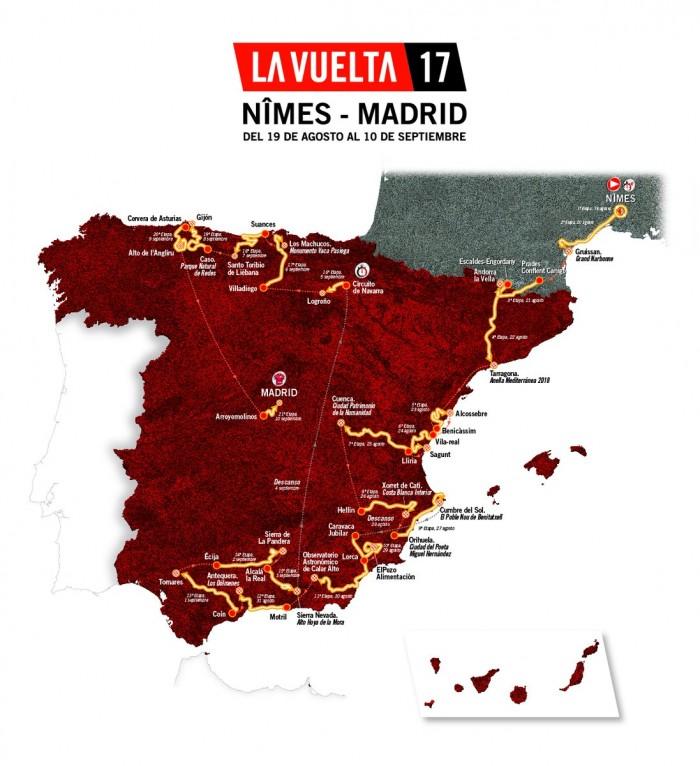 Vuelta 2017, svelato il percorso: riecco l'Andalusia, torna l'Angliru