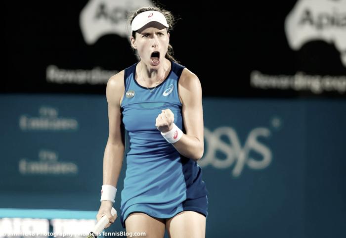 WTA Sydney: Johanna Konta books spot in the final after defeating Eugenie Bouchard