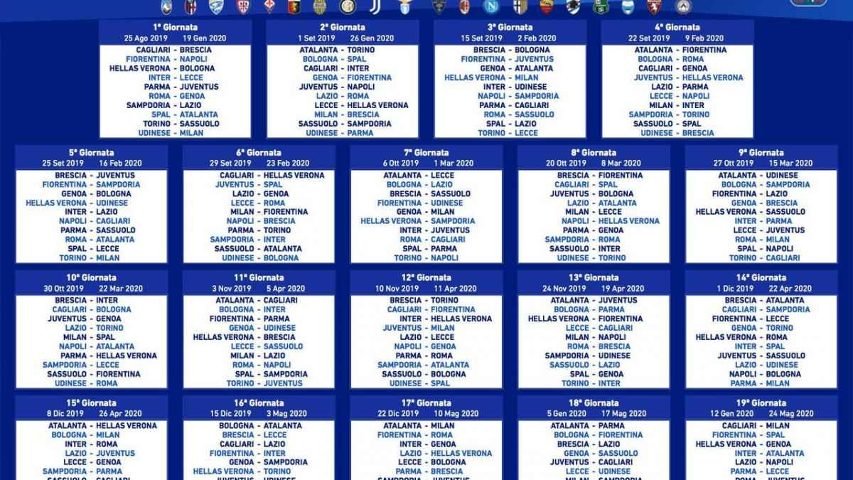 Calendario Serie B 2020 19.Serie A 19 20 L Analisi Del Nuovo Calendario Vavel