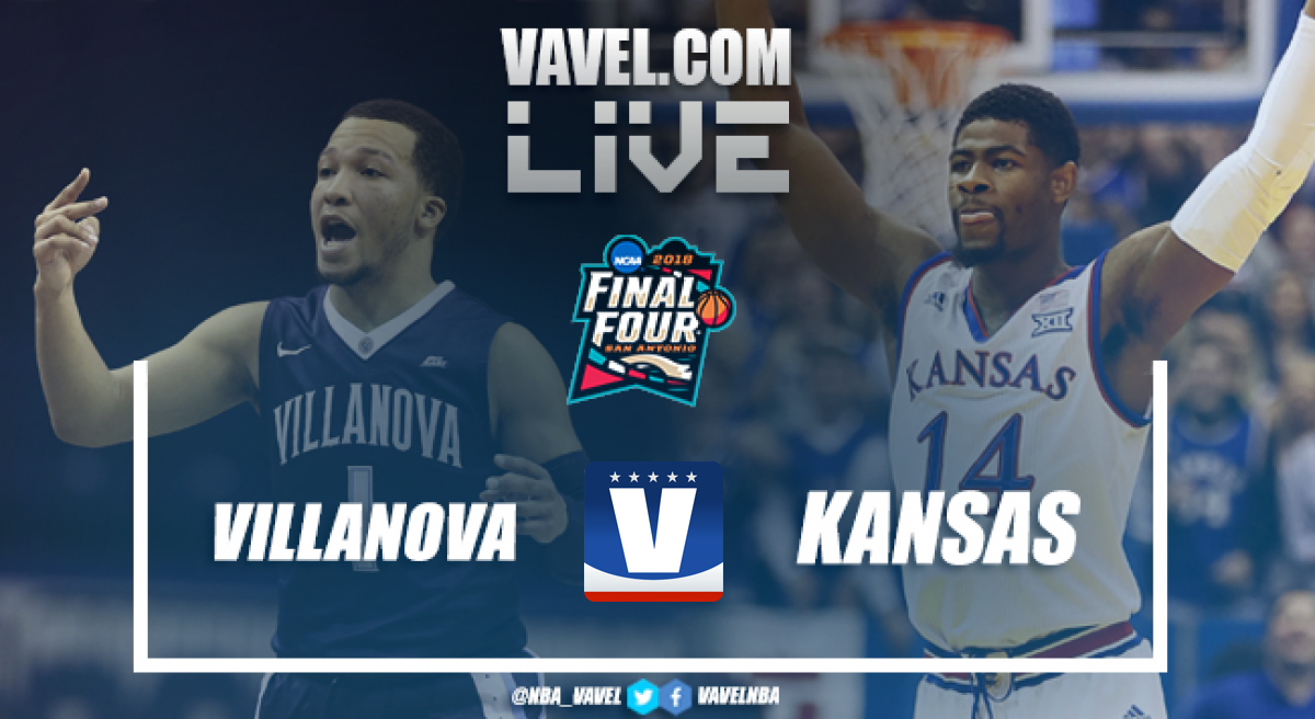 Image result for Kansas vs Villanova final four Live