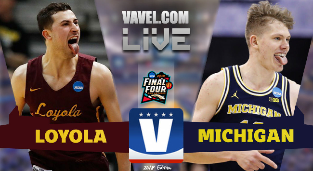 Image result for Loyola Chicago vs Michigan Basketball