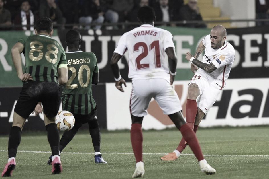 Sevilla vence Akhisar e mantém líder isolado do grupo J da Europa League