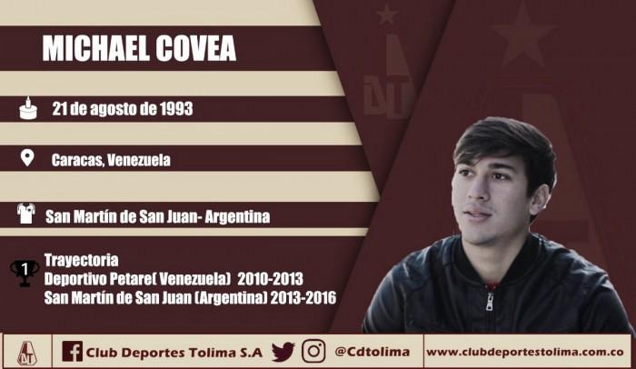 Ibagué será el nuevo hogar de Michael Covea