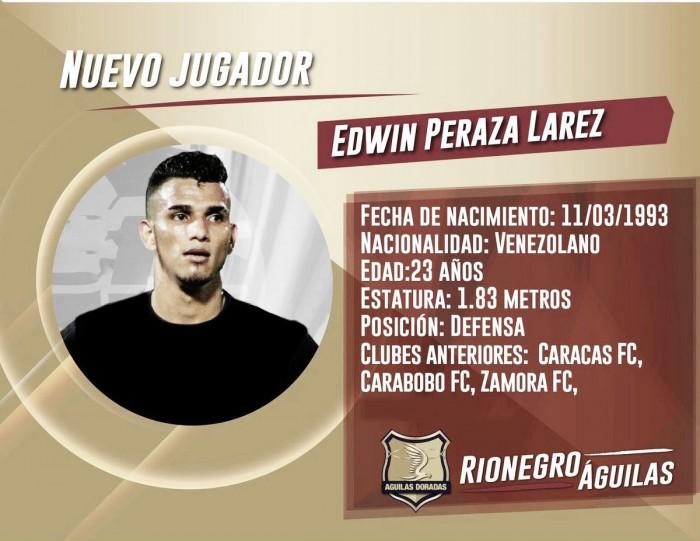 Edwin Peraza da el salto al extranjero tras ser campeón