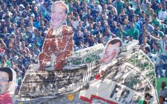 الإتحاد المغربي لكرة القدم يدرس معاقبة الرجاء بسبب تيفو الديربي ضد غريمه الوداد