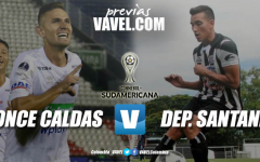 Previa Once Caldas vs Deportivo Santaní: por la clasificación en la Copa Sudamericana