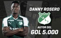 Danny Rosero; en la historia del Deportivo Cali