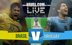 Resultado Uruguay - Brasil en Eliminatorias (2-2)