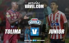 Previa Deportes Tolima vs Junior de Barranquilla: a ponerse al día en la Liga Águila
