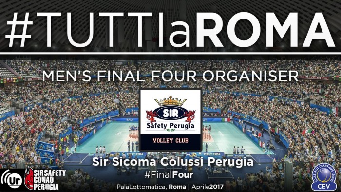 Volley M - La Sir Safety Perugia organizzerà la prossima Final Four di Cev Champions League
