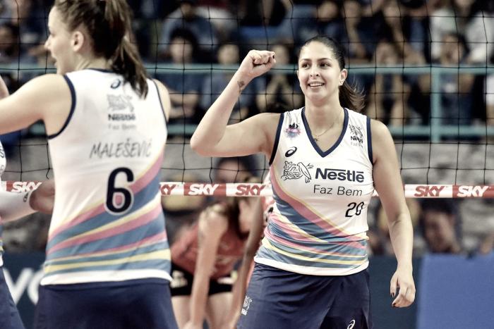 Vôlei Nestlé vence Sesi-SP e se mantêm na cola da liderança da Superliga feminina