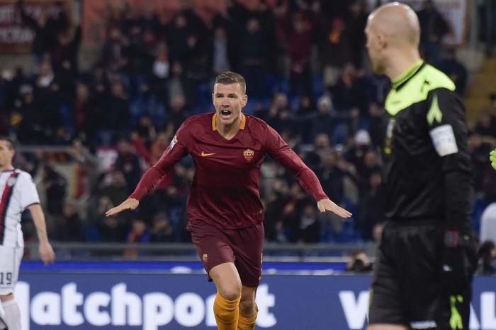 Serie A- Ci pensa Dzeko: 1-0 della Roma sul Cagliari