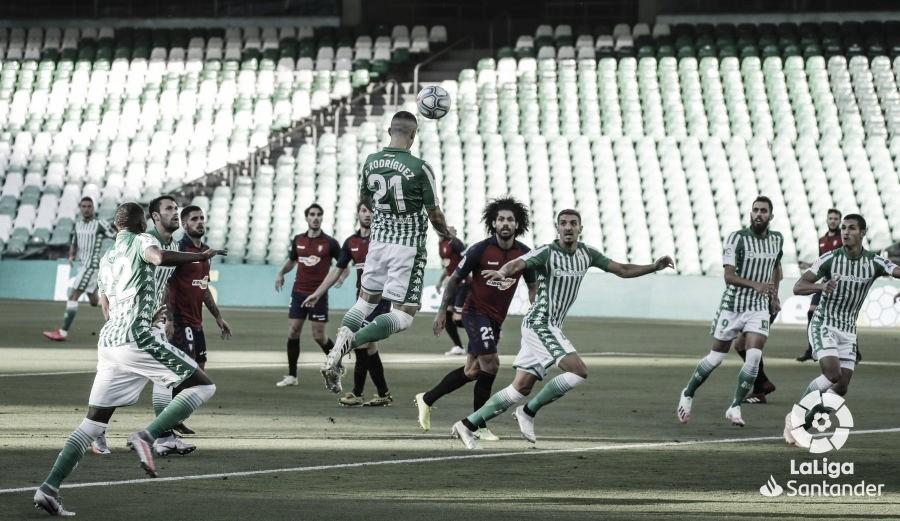 Real Betis - Osasuna: puntuaciones del Real Betis, jornada 35ª de Liga Santander