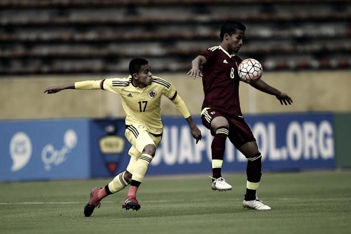 Igualdad colombiana contra Venezuela en el hexagonal final juvenil