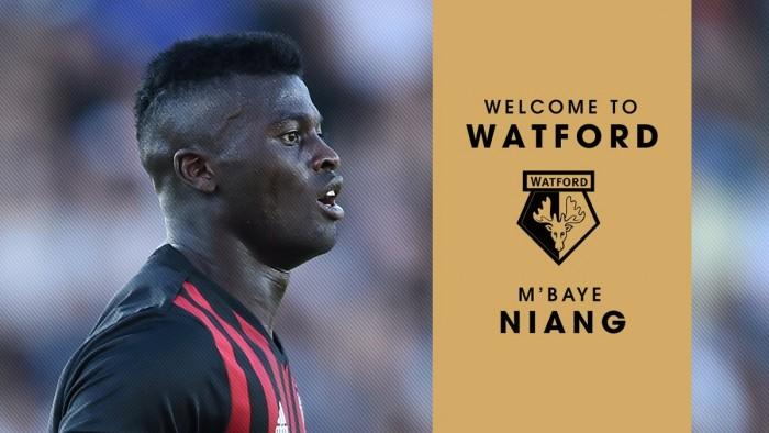 UFFICIALE - Milan, ceduto Niang al Watford a titolo temporaneo con diritto di riscatto