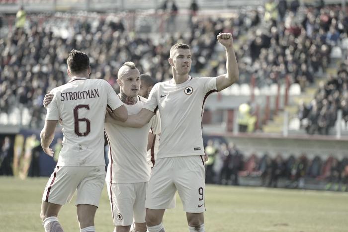 Serie A: la Roma vince grazie a Nainggolan e Dzeko, Crotone battuto 0-2