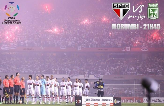 Com Morumbi lotado, São Paulo recebe Atlético Nacional pelasemifinal da Libertadores