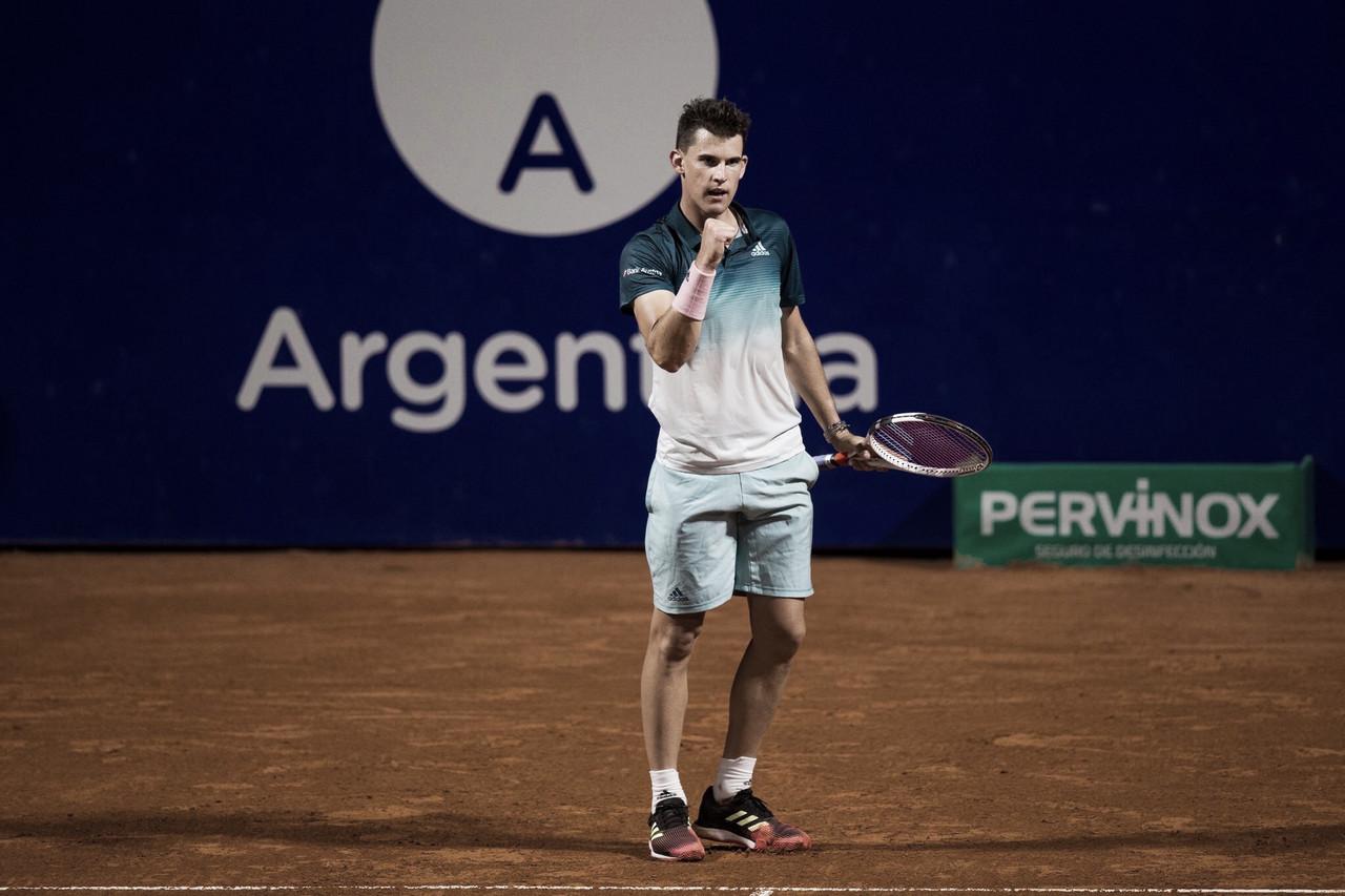 De volta ao saibro, Thiem estreia com vitória confortável contra Marterer em Buenos Aires