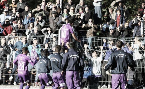 Adrián Luna abrió el marcador en el Parque Saroldi. Imagen: sitio web oficial de Defensor Sporting.