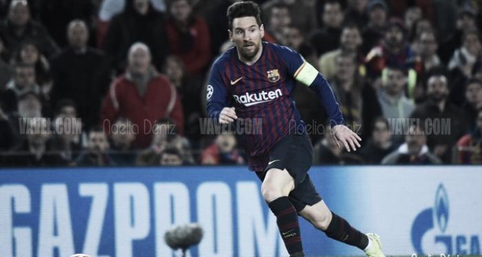 Leo Messi ante el Olympique de Lyon en el Camp Nou | Foto de Noelia Déniz, VAVEL