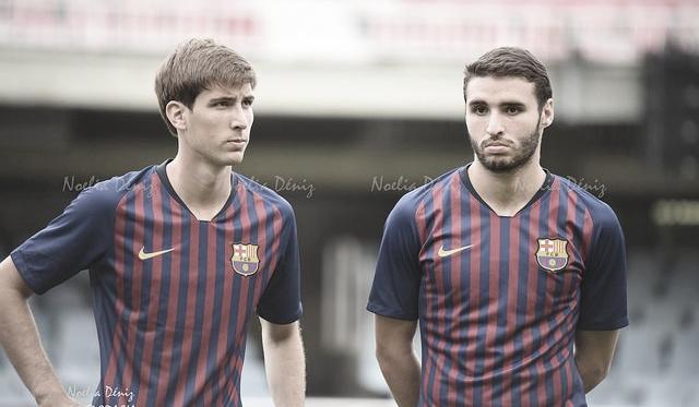 Abel y Miranda con el Barça B. Foto: Noelia Déniz, VAVEL
