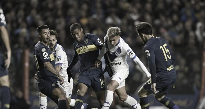 El último enfrentamiento entre Boca y Vélez por la Superliga. Foto: Vélez Sarsfield.