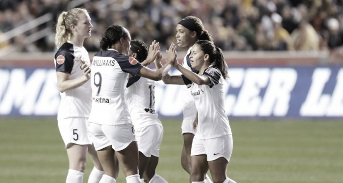 Debinha scored for the Courage in the 70th minute. Photo: www.twitter.com/thenccourage