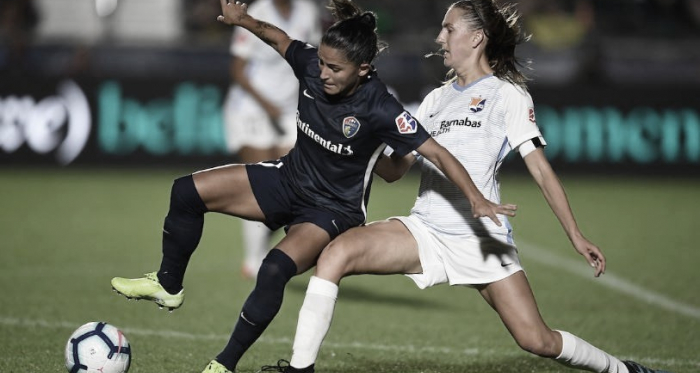 Debinha scored for the Courage in the 28th minute. Photo: www.twitter.com/thenccourage
