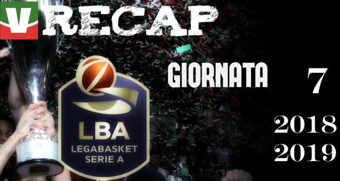 Legabasket, risultati e tabellini della settima giornata