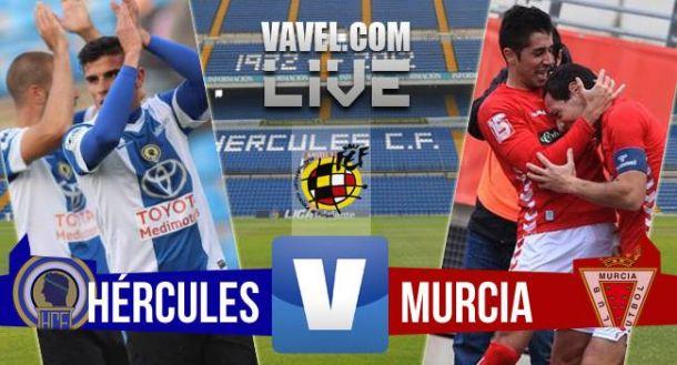 Resultado Hércules - Real Murcia en playoffs Segunda B (1-1)