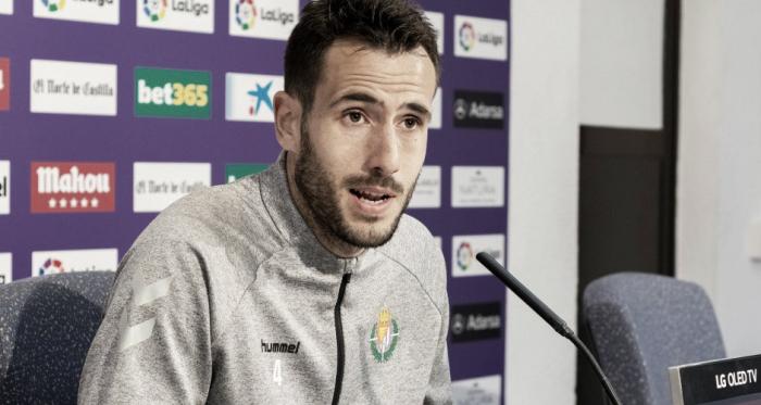 Kiko Olivas en la rueda de prensa | Real Valladolid