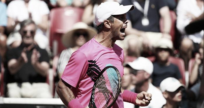 Puño apretado para festejar la victoria | Foto: ATP 500 de Hamburgo