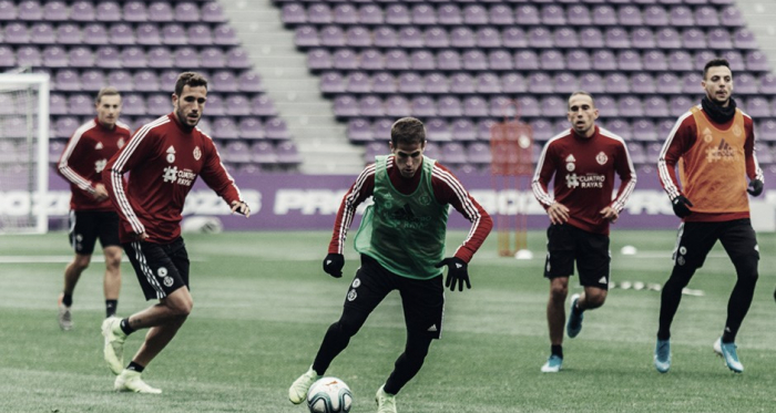 El equipo se entrenaba esta mañana en el José Zorrilla // Foto: Real Valladolid