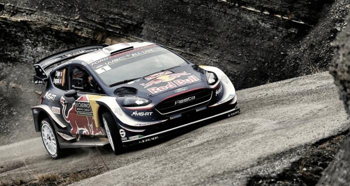 Sébastien Ogier a bordo del Ford Fiesta // vía: wrc.com