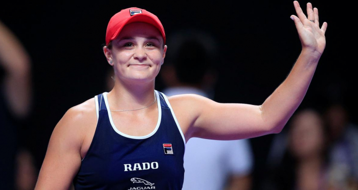 Barty waves to the crowd after coming from behind to defeat Pliskova/Photo: Aly Song